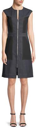 Diane von Furstenberg Tailored Sleeveless Zip-Front Dress