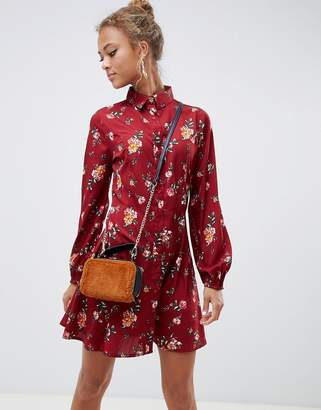 615f24b299 Influence floral skater shirt dress