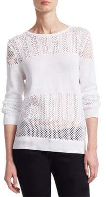 Saks Fifth Avenue COLLECTION Mixed Stitch Pullover