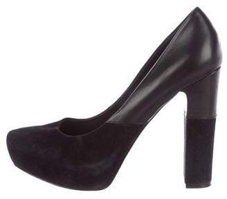 Sigerson Morrison Suede Pointed-Toe Pumps
