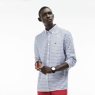 Lacoste Men's Regular Fit Check Oxford Shirt