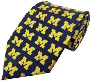 Donegal Bay Michigan Wolverines Repeating Primary Necktie
