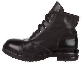 Moma Leather Combat Boots