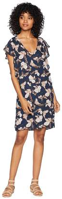 Splendid Ramo Floral Print Ruffle Dress Women's Dress