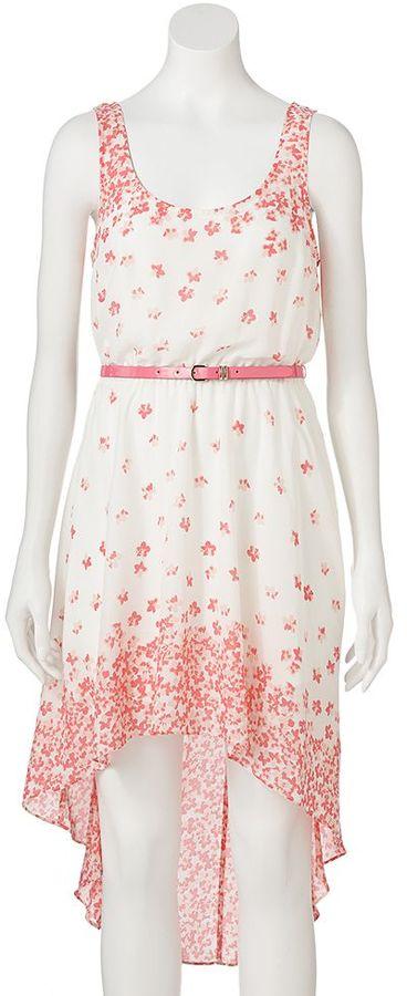 Candies Candie's ® floral bow back hi-low dress - juniors