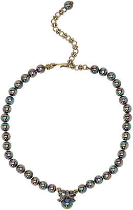 Heidi Daus Exquisite Harmony Mini Bow Faux Pearl Necklace
