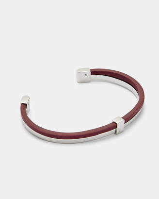 Ted Baker CHANN Metal and leather bangle