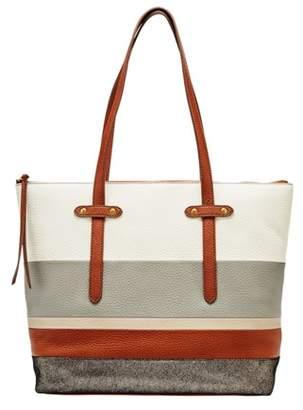 Fossil Felicity Tote Handbag Neutral Stripe