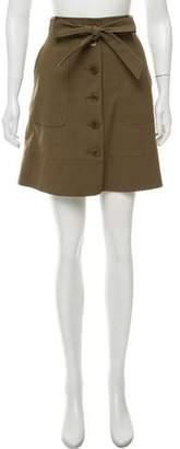 Tibi A-Line Mini Skirt