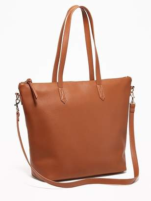 Old Navy Faux-Leather Zip-Top Tote for Women