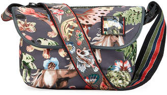 Valentino Garavani Men's Wildlife-Printed Nylon Messenger Bag