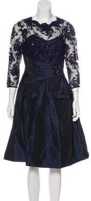 Teri Jon Ricki Freeman x Guipure Lace Midi Dress w/ Tags