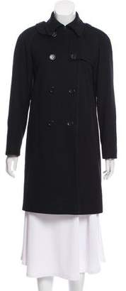 Calvin Klein Double-Breasted Merino Wool Coat