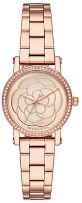 Michael Kors Petite Norie Rose Goldtone Stainless Steel Bracelet Watch