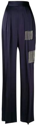 Christopher Kane crystal tie satin trousers