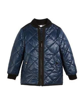 Burberry Ila Reversible Quilted Bomber Jacket, Size 4-14