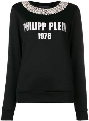 Philipp Plein logo knit jumper