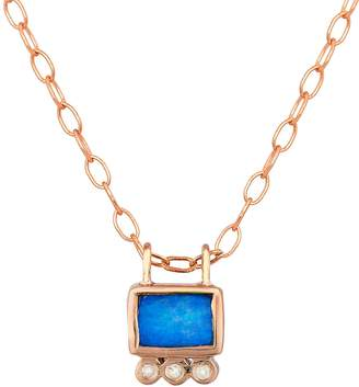 Celine Daoust Opal Square and Diamond Trio Necklace