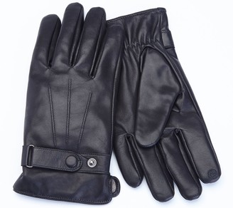 Royce Leather Men's Lambskin Touchcreen Gloves