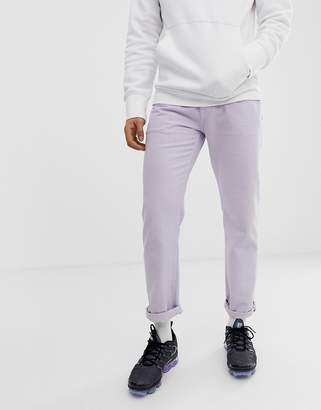 Asos Design DESIGN original fit jeans in lilac