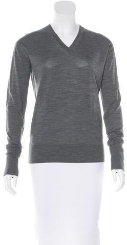 Celine Céline Merino Wool V-Neck Sweater