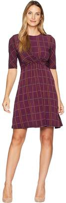 Donna Morgan Short Sleeve Jersey Dress with Crisscross Waist Women's Dress