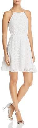 Aqua Flounced Floral Mesh Dress - 100% Exclusive