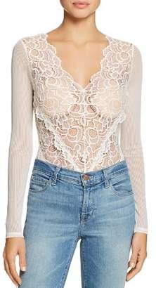 GUESS Sariyah Sheer Lace & Mesh Bodysuit