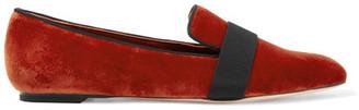Alexander McQueen - Velvet Loafers - Brick $440 thestylecure.com