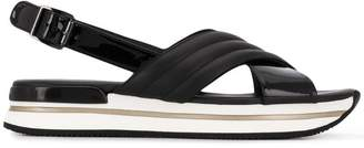 Hogan cross strap sandals