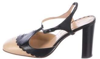 Chanel CC Slingback Sandals