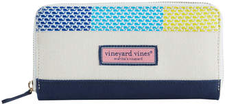Vineyard Vines Patchwork Zip Around Wallet