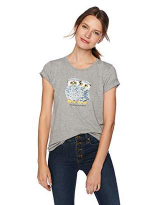 J.Crew Mercantile Women's Owls Graphic Crewneck T-Shirt