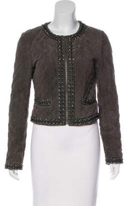 Haute Hippie Leather Quilted Jacket