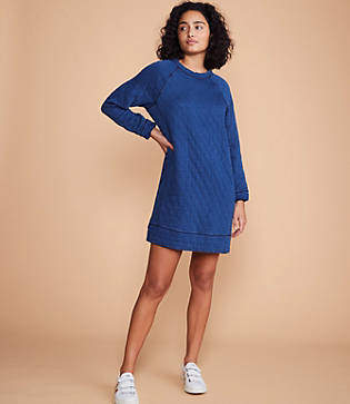 Lou & Grey Quilted Sweatshirt Dress