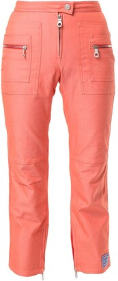 Chanel Pre-Owned Sports Line zipped details cropped trousers