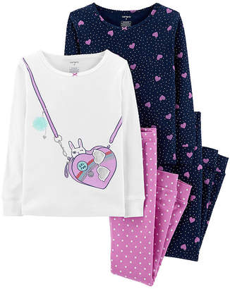 Carter's Cotton Sleep 4-pc Pajama Set - Preschool Girl