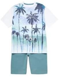 F&F Slogan T-Shirt And Shorts Set 5-6 years