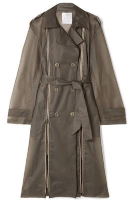 TRE - Zip-detailed Matte-pvc Trench Coat - Anthracite
