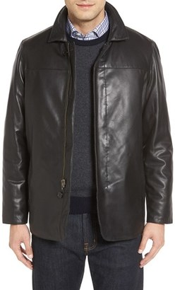 Men's Missani Le Collezioni Reversible Lambskin Leather & Quilted Wool Jacket $699 thestylecure.com