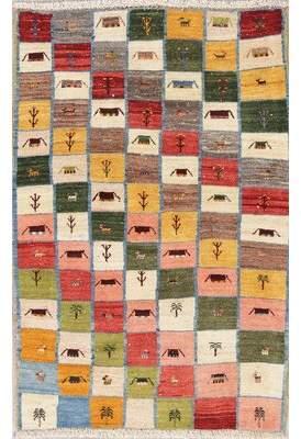 "Bloomsbury Market Seidman Color-Full Persian Modern Oriental Hand-Knotted Wool Kitchen Rug 4'11""X3'3"" Bloomsbury Market"
