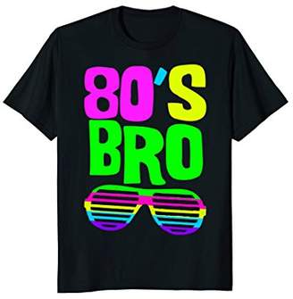 Neon 80s Party Wear Shirt   80'S BRO Outfit Starter Tee