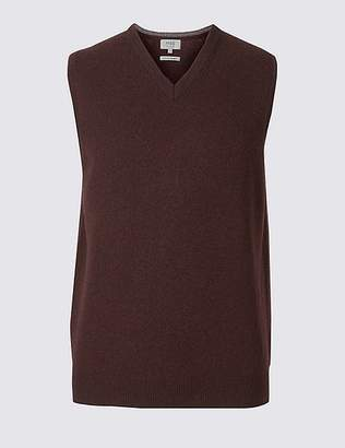 Marks and Spencer Pure Lambswool Sleeveless Jumper