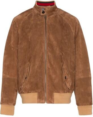 Gucci Web-collar bomber jacket