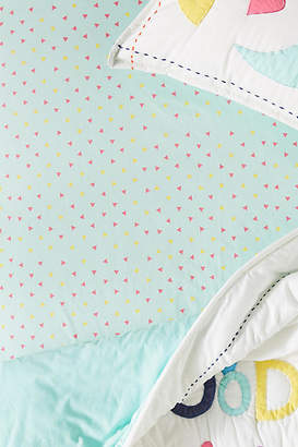 Anthropologie Triangle Crib Sheet