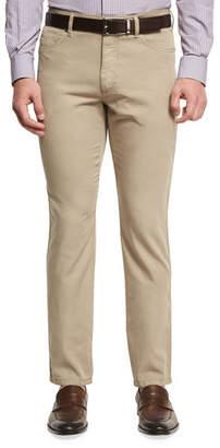 Ermenegildo Zegna Five-Pocket Chino Pants, Medium Beige