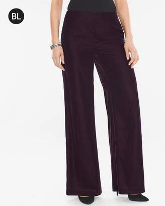 Black Label Velvet Wide-Leg Pants