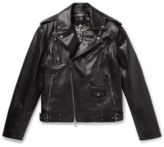 Alexander McQueen Convertible Leather Biker Jacket