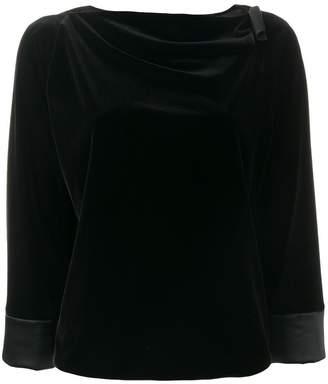 Armani Collezioni neck detail top
