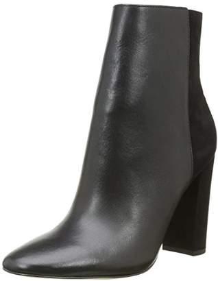 Buffalo London Women's 132209 Vegetal Nobuck Cowboy Boots, (Black 01)